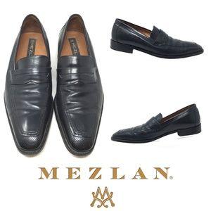 """Mezlan """"Hynde"""" Men's Sz 8 Leather Penny Loafers"""